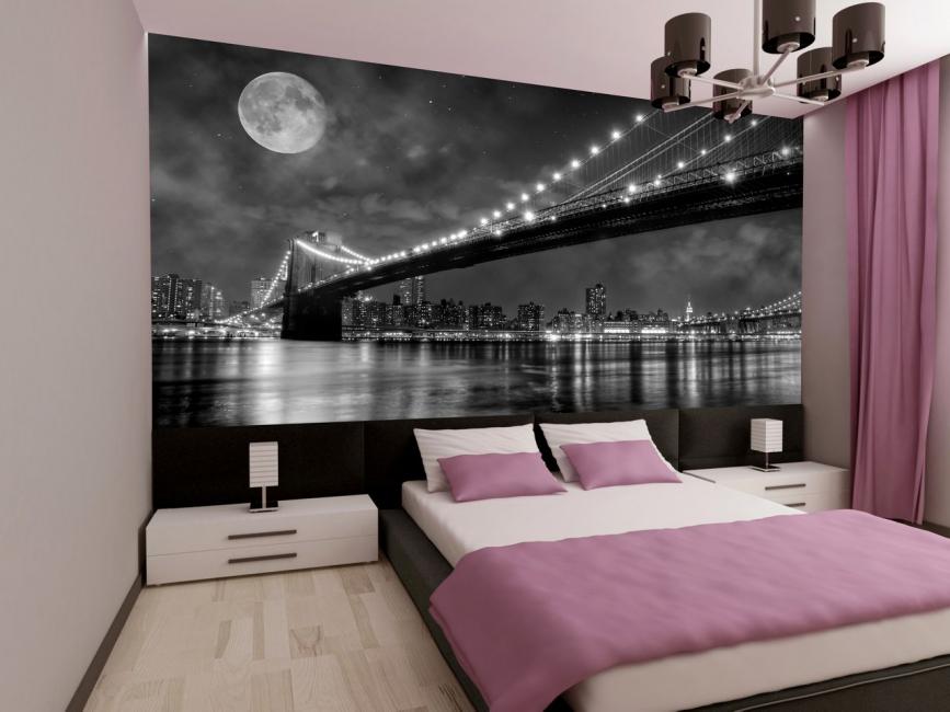 Fotoğraf duvar kağıtları ile kombinasyon