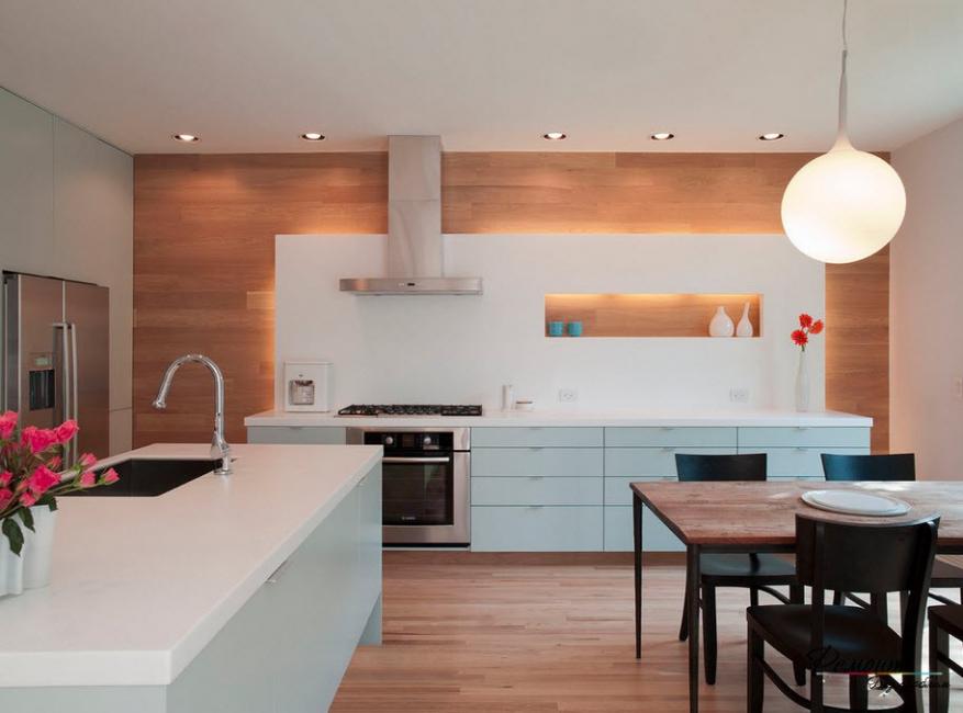 Dapur moden dengan niche