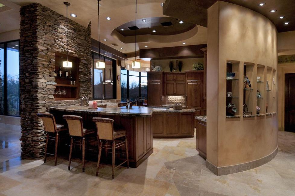 Reka bentuk yang luar biasa dari batu dapur