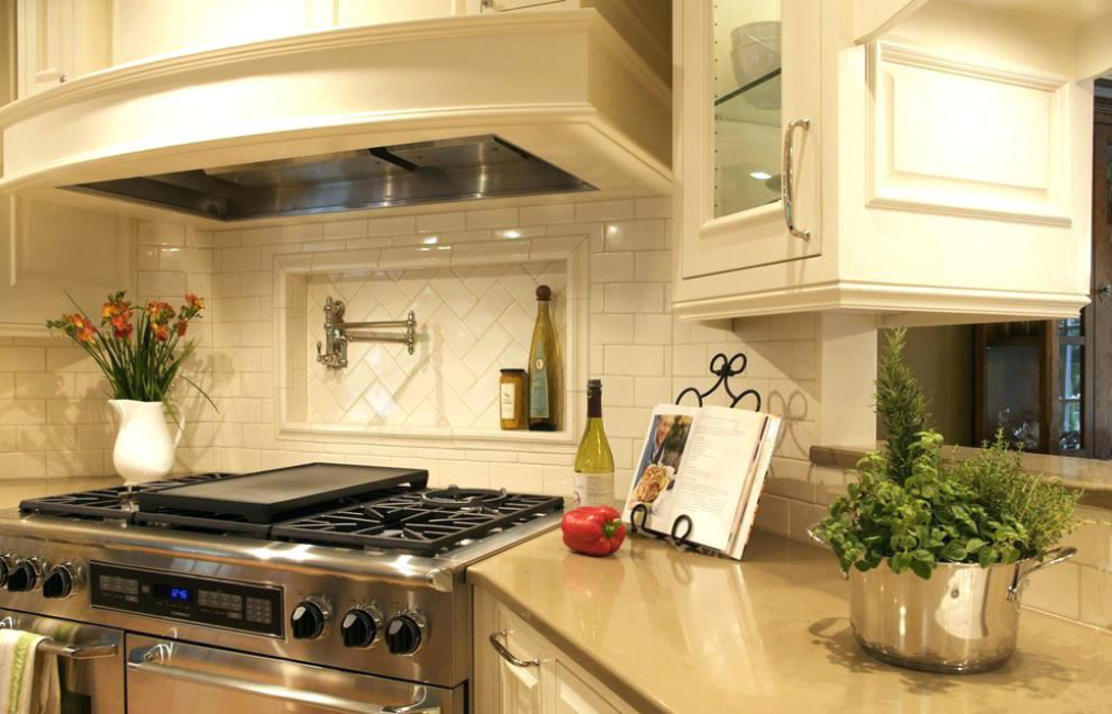 Dapur penjuru dengan niche