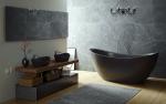 Siyah banyo iç trendleri - 250+ (Fotoğraf) moda trendleri