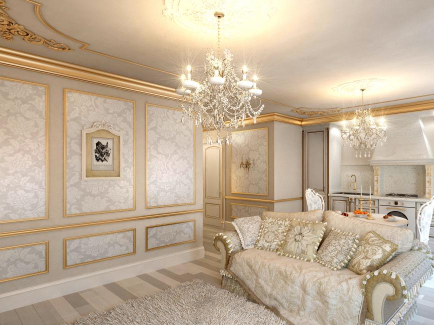 금 아래 모든 벽을 붙일 필요는 없습니다.