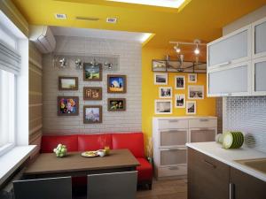 Keselesaan bermula dengan dapur: 140+ Photo Ideas untuk dapur (kecil, sudut, dengan tempat tidur)
