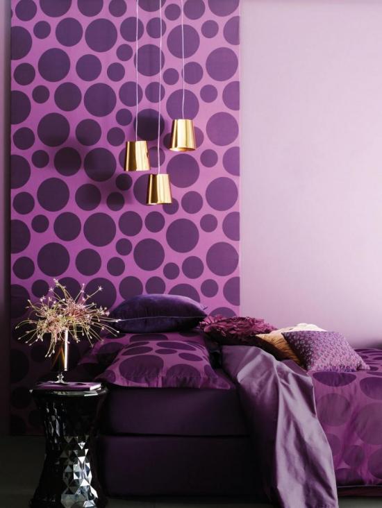 Wallpaper Warna Lilac 90 Foto Kombinasi Di Ruang Tamu Bilik Tidur