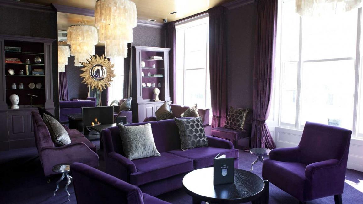 Sering kali, ungu digunakan untuk hiasan
