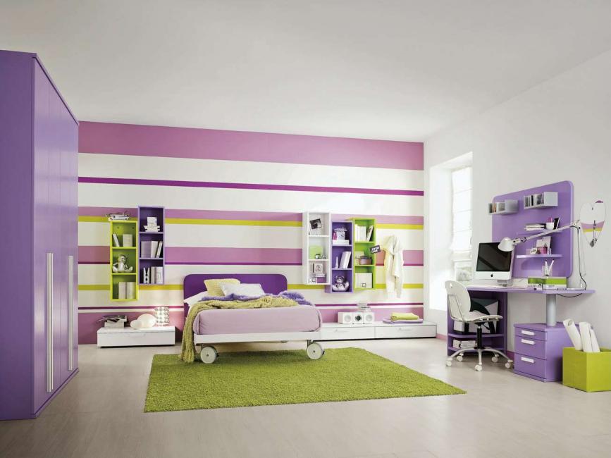Dinding boleh dicat dengan warna apa pun, walaupun berbeza