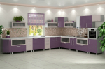 Masakan Violet: semangat yang menarik atau aura kedamaian? 170+ (Foto) untuk reka bentuk dalaman yang sempurna