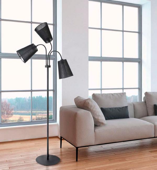 Lampu lantai memainkan peranan yang besar dalam menghias bilik