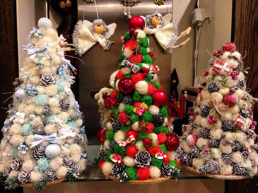 새해 작은 크리스마스 나무