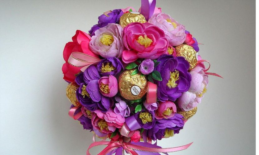 Unusually beautiful and sweet bouquet
