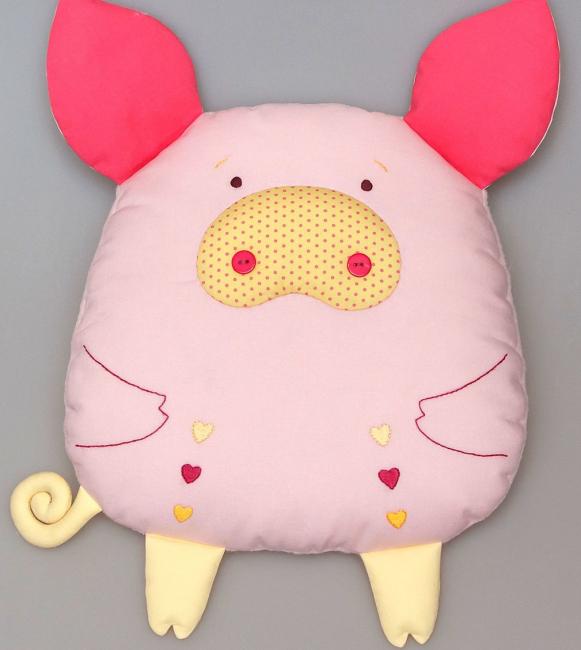 Sewn Pig Fabric Bantal