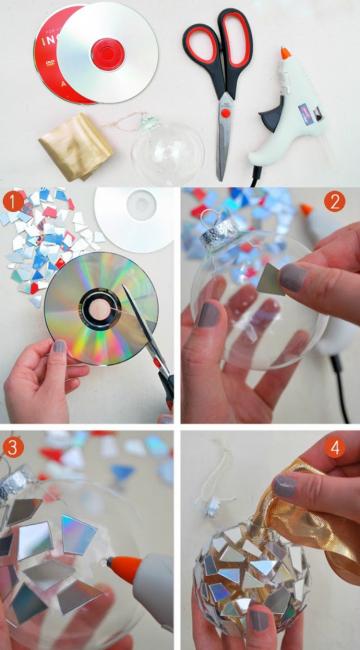 Bola cakera CD dengan tangan mereka sendiri
