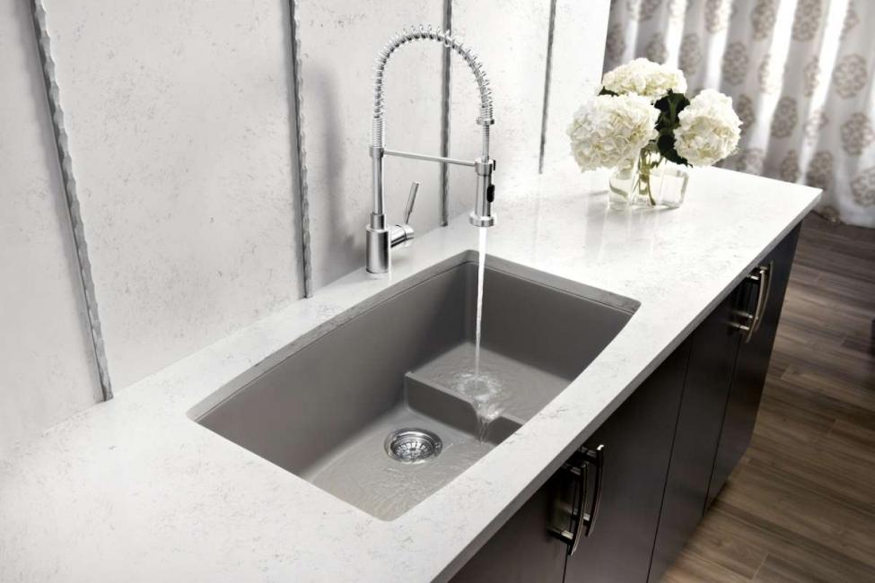 Apabila memilih sink, pertimbangkan banyak parameter.