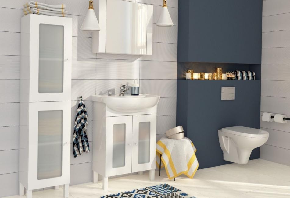 Keramik putih sentiasa meningkatkan ruang.