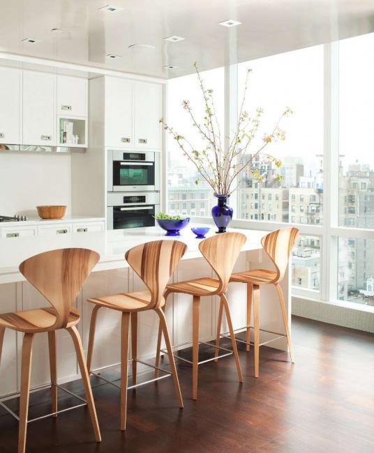 Pilihan dapur dengan backrest