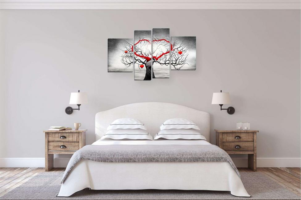 Albero dell'amore in testa alla camera da letto