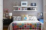 침대 위에 침실의 공간을 만드는 방법 : 풍수의 그림 배치. 170+ (사진) 밝고 세련된 액센트