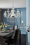 Nous créons un bel éclairage (150+ Photos): des lustres en cristal à l'intérieur du salon et de la chambre à coucher (plafond, suspension, classique)