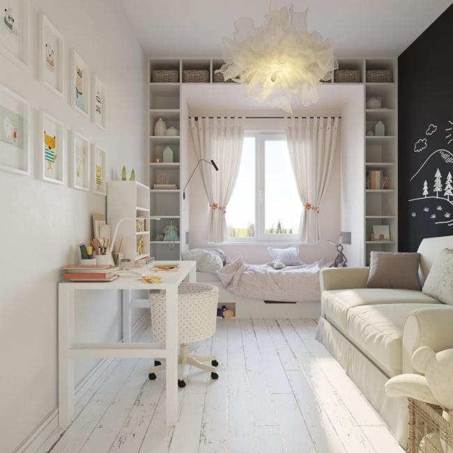مع هذا اللون ، تبدو الغرفة أكبر وأخف وزنا.