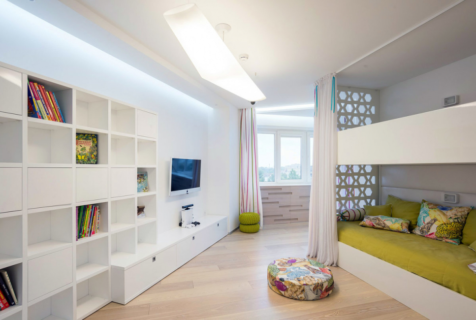 Decorating a white children's room is not only easy, but also very interesting.