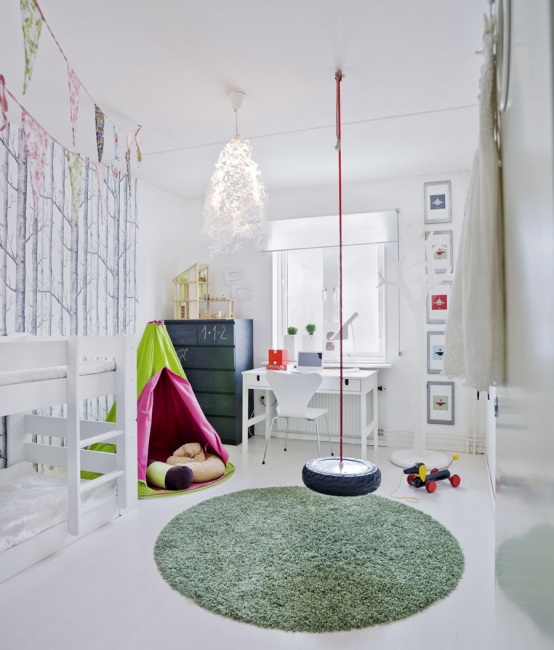 Most often the walls in child rooms paint walls