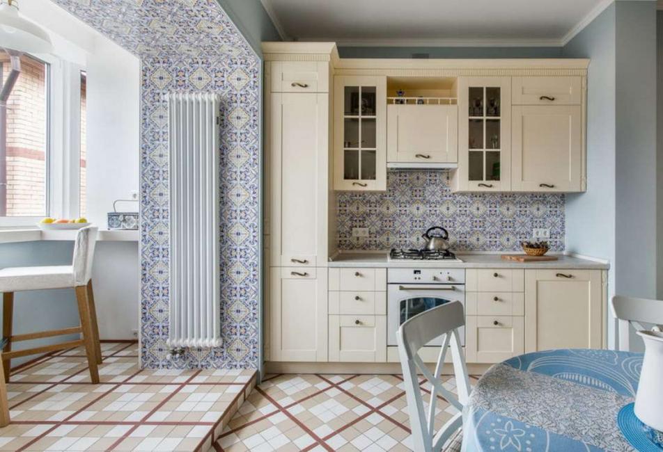 لا تشوش مناطق المطبخ الصغيرة بأثاث إضافي - فقط كل ما تحتاجه