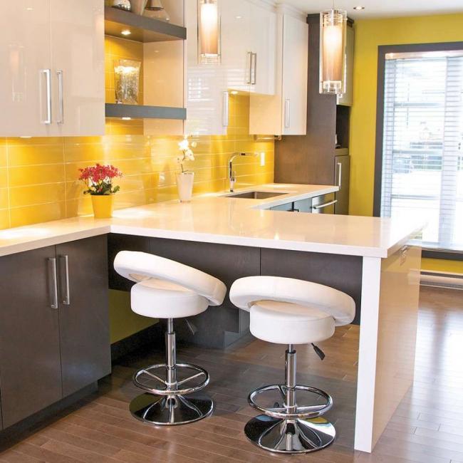 يمكن توسيع المطبخ الصغير الحجم باستخدام منطقة الشرفة