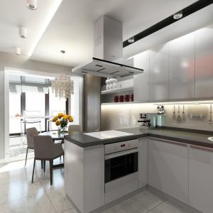 المطبخ جنبا إلى جنب مع لوجيا: طرق حقيقية لاستخدام المكان بحكمة. التصميم الداخلي غير ممل (120+ صور)