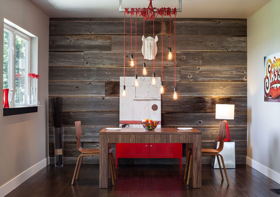 Select and accentuate the wall with laminate