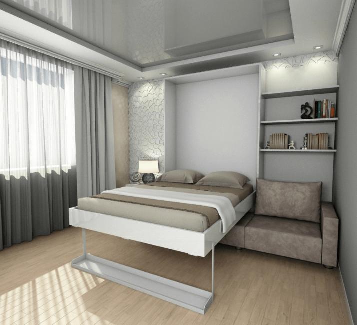 Μετασχηματισμός κρεβάτι - πολύ ελεύθερο χώρο