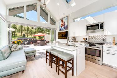 Idea reka bentuk dapur di rumah peribadi: 130+ foto dan pilihan susun atur