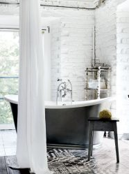 Jubin putih - Mewujudkan reka bentuk yang hebat. 300+ (foto) Kemasan dalaman