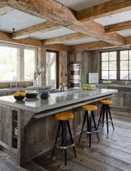 Siling kayu dengan balok hiasan: reka bentuk dan hiasan 165+ (Foto)