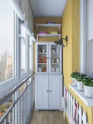 Dekorasi balkoni di Khrushchev: 225+ (Foto) - Idea untuk membuat reka bentuk yang indah
