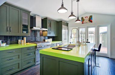 Φρεσκάδα και ασφάλεια του πράσινου στη διακόσμηση: 130+ Φωτογραφίες της πράσινης κουζίνας στο εσωτερικό. Τι δίνει αυτό το φυσικό χρώμα;