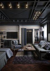 İç mekanı siyah yapıyoruz: Perde / Duvar Kağıdı / Tavan (185 + Fotoğraf). Tasarımınızın parlak aksanı