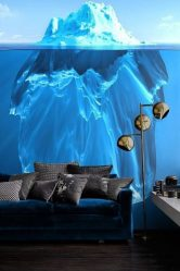 Wallpaper de fotografie pe perete în camera de zi, dormitor, bucătărie și copil: 205+ fotografie Interioare atractive