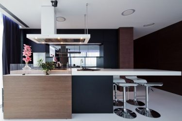 Καφέ κουζίνα σε εσωτερικό χώρο (120 + φωτογραφία) - Επιτυχείς συνδυασμοί για έξυπνες ιδέες