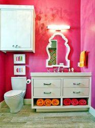 Καλάθι πλυντηρίου στο μπάνιο: 145+ (Φωτογραφία) Χτισμένο, λυγαριά, Γωνιά