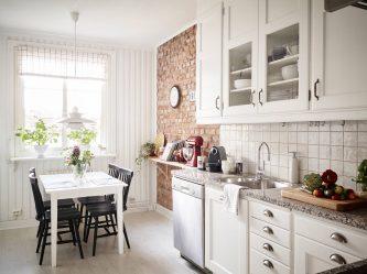 Karakterli Mutfak: İskandinav tarzı iç tasarım (190+ Fotoğraf)