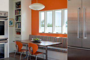 Bagaimana untuk meletakkan sofa kecil di dapur? 200+ (Foto) Interior dapur yang selesa