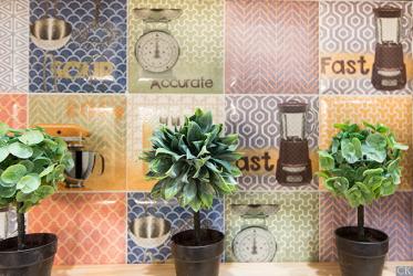 Mutfağın içindeki Fayans Patchwork: Evinizde doymuş Akdeniz motifleri (yerde bir önlük için).110+ (Fotoğraflar) Yeni Başlayanlar İçin Adım Adım