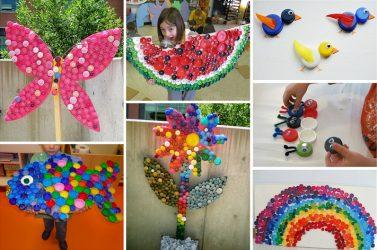 Kraf dari penyumbat plastik dan gabus (130+ Foto): Membuat barangan unik dengan tangan anda sendiri