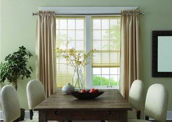 Bagaimana untuk memilih dan menggantung tirai pada tingkap plastik dan kayu? 220+ (Foto) di pedalaman dapur, bilik tidur, balkoni