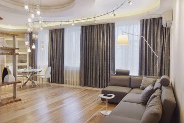 Langsir di ruang tamu (130+ Foto): Idea moden, model produk baru 2017, yang akan diingati untuk jangka masa panjang