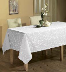 Bereksperimen dengan taplak meja di atas meja: 265+ Foto pilihan yang indah dan moden (silikon, telus, kerja terbuka)