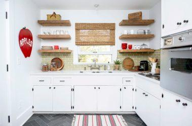 Cara membuat dapur sempit dan panjang: nuansa dan helah untuk pedalaman kecil (175+ Foto)