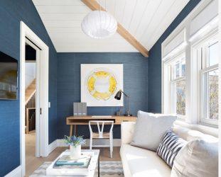 Gökyüzünün ve denizin rengi: 215+ Fotoğraf Özel tasarım. İç mekandaki mavi renk kombinasyonlarının seçimi