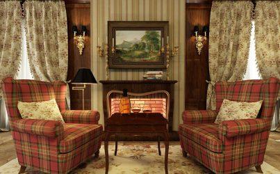 Sentuhan utama dalam pedalaman apartmen dalam gaya bahasa Inggeris: Adaptasi untuk diri sendiri (ruang tamu, bilik tidur, dapur, bilik mandi)