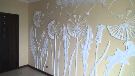 How to make an exclusive wall painting: Creating a bas-relief with your own hands. Creative opportunities to update the decor. Master class for beginners